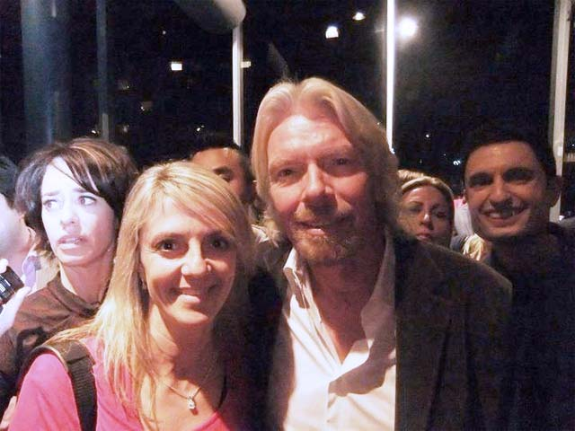 Lisa B. with Richard Branson