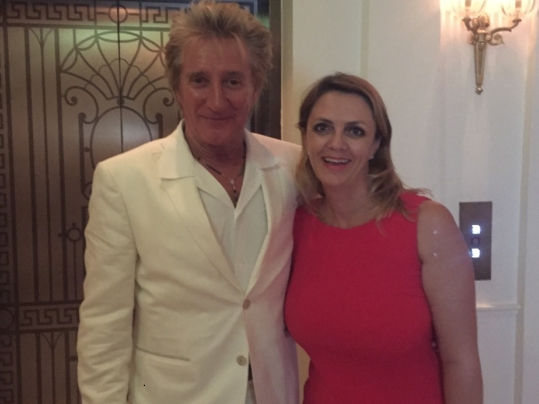 Lisa B. with Rod Stewart